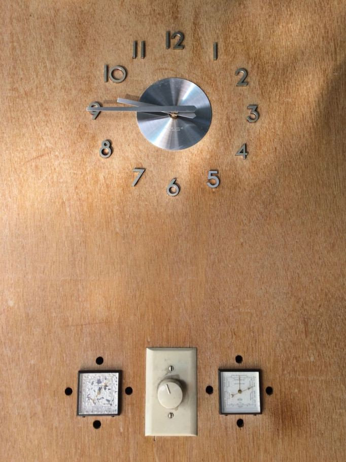 Frey House II clock built in thermometer barometer