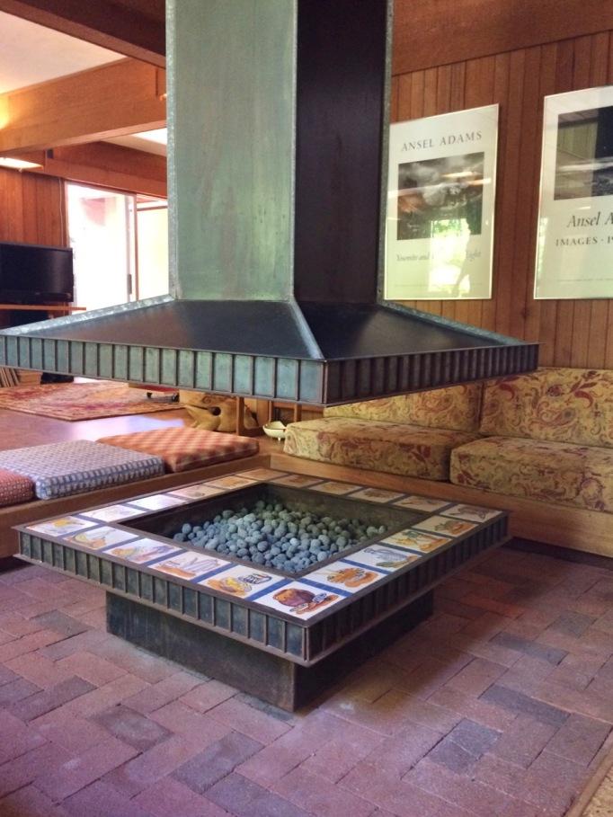 Mid Century House Fireplace Sunken Conversation Pit San Luis Obispo Wes Ward