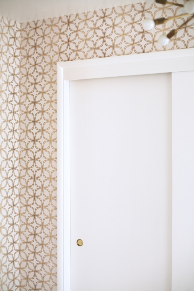 Mid Century Wallpaper DIY Norwall SH34552 gold white geometric