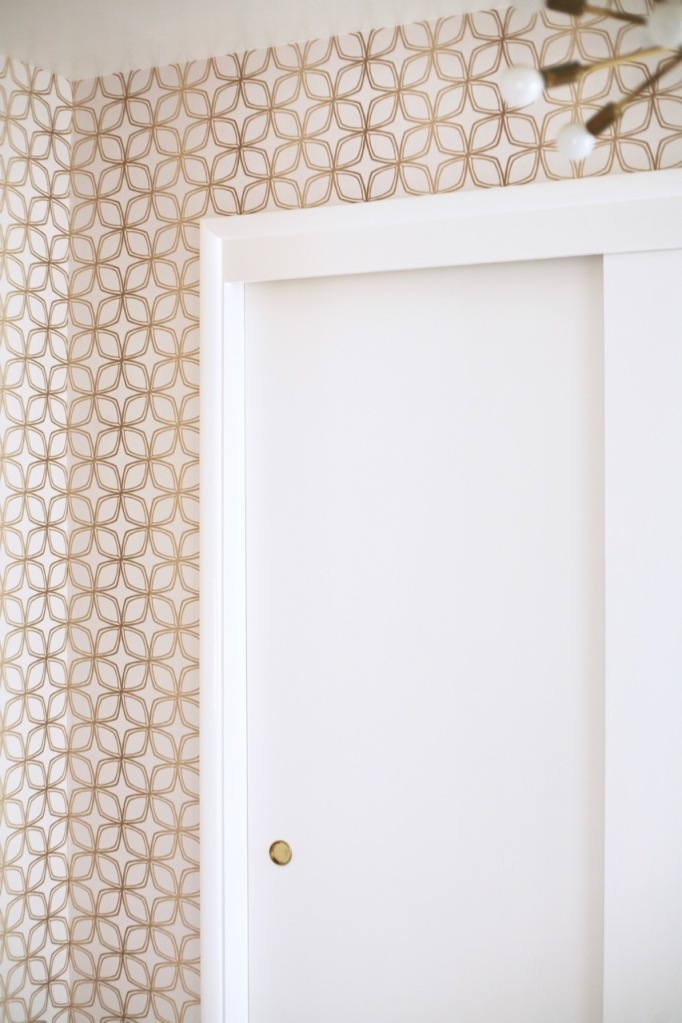 Mid Century Wallpaper DIY Norwall SH34552 gold white geometric