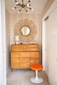 mid century retro wallpaper gold Norwall SH34552