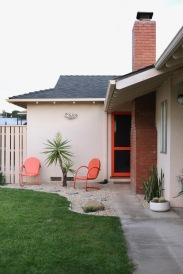 mid century landscape backyard yucca