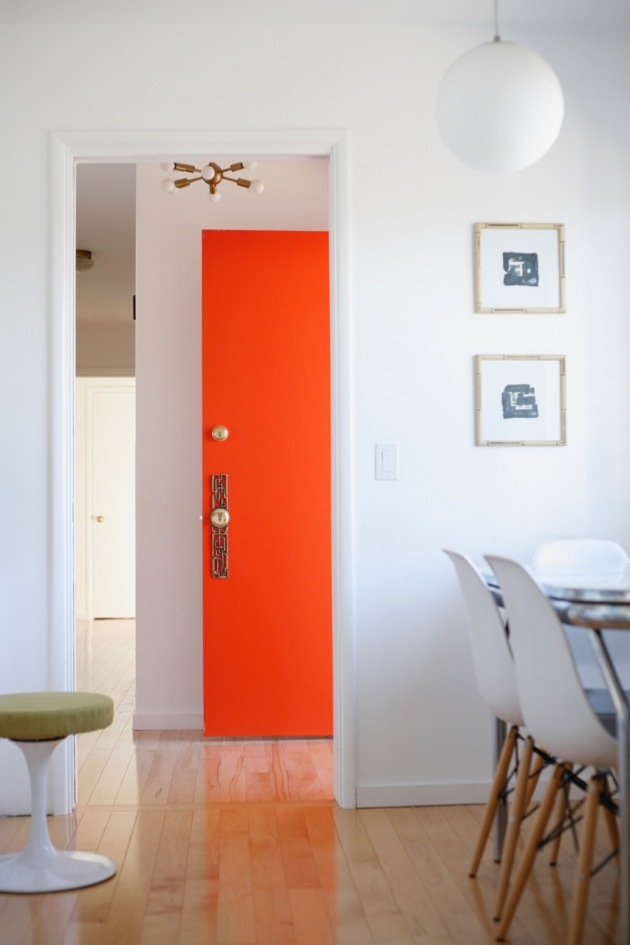 Orange Front Door Suburban Pop