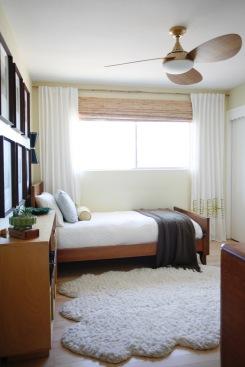 mid century danish kid boy bedroom interior