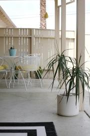 mid century patio table set vintage