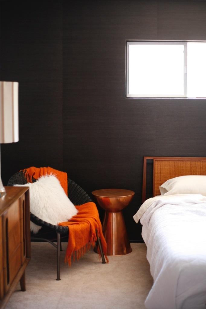 Black Grasscloth Accent Wall And Wallpaper Primer Talk