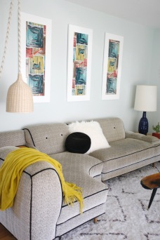 mid century sectional couch corner