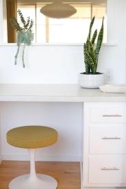 built in kitchen desk vintage mid century tulip stool