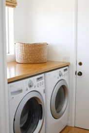 DIY laundry room counter plywood wood cheap small