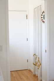 curtain pantry door
