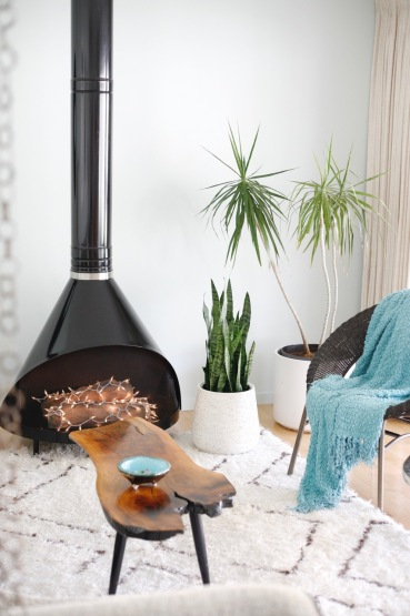 mid century cone fireplace 70's