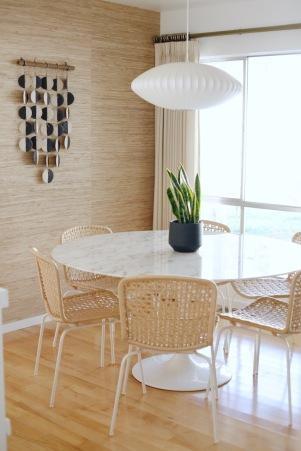 mid century dining room mquan wall hanging